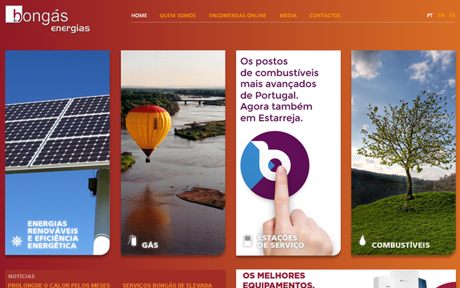 Website - Bongás Energias