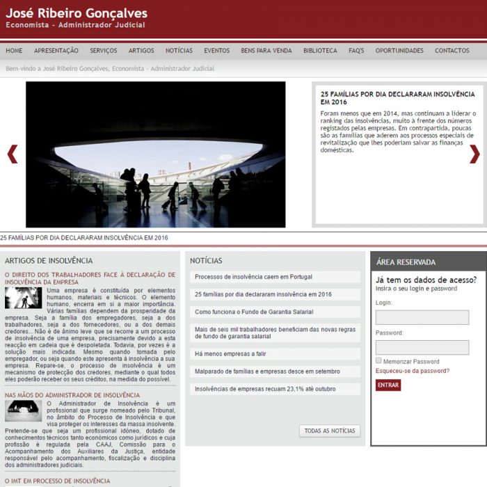 Website - José Ribeiro Gonçalves