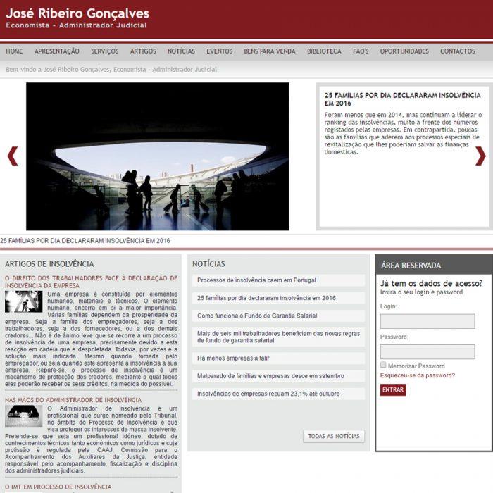 Website - José Ribeiro Gonçalves