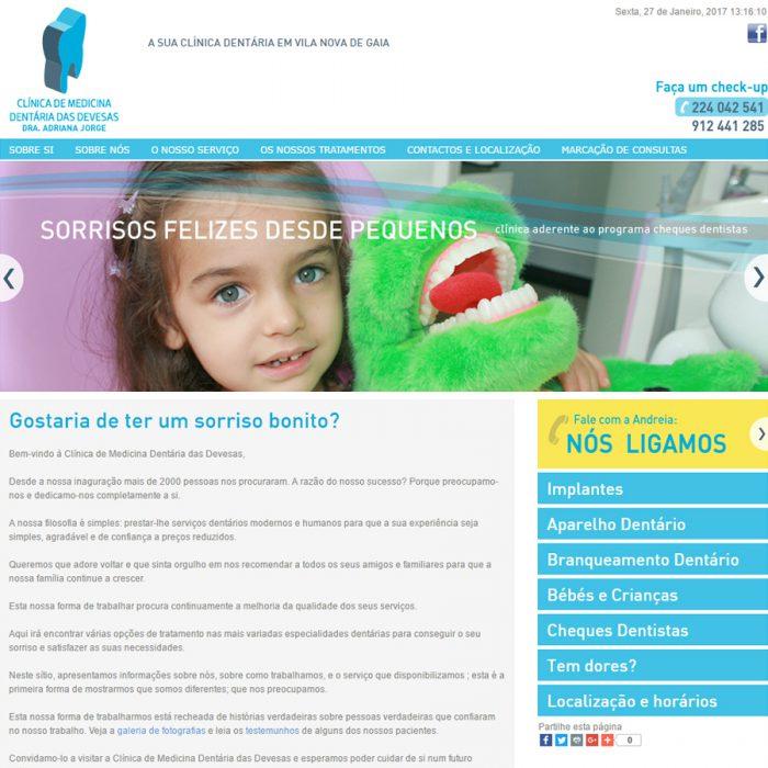 Website - Clínica de Medicina Dentária das Devesas