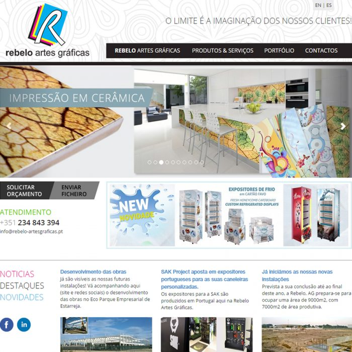 Website - Rebelo Artes Gráficas