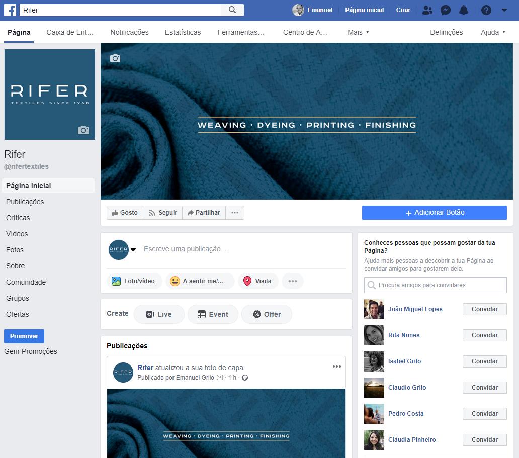 Página Facebook - Rifer